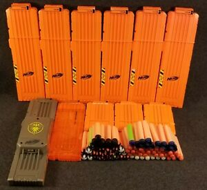 Nerf Rivals and N-Strike Magazine Clips/ Magazines Lot of 11 & 80 Mixed Darts