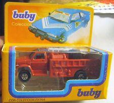 Vintage Buby Con Coleccion Argentina Fire Truck Boston Fire Brigade 1/64 80s Box