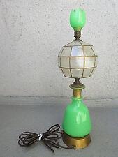 "VTG COLLECTIBLE ANTIQUE 18.75"" JADEITE LEVITON LAMP BASE TULIP JADEITE FINIAL"
