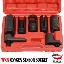 7pcs O2 Oxygen Sensor & Oil Pressure Sending Unit Socket Set Tool Free Shipping