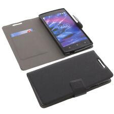 Tasche für MEDION Life E5005 Smartphone Book-Style Schutz Hülle Buch Schwarz