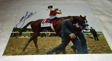 MIKE SMITH JUSTIFY SIGNED 2018 BELMONT STAKES 8x10 HORSE RACING PHOTO CHAMPION