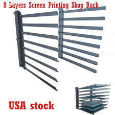 US-Wall Fixed 8 Layers Screen Printing Shop Rack / Cart / Storage / Holder /Fram