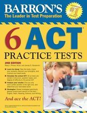 NEW - Barron's 6 ACT Practice Tests, 2nd Edition