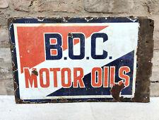 1920 Vintage Burmah Oil Company Motor Oils Double Sided Enamel Sign Board London