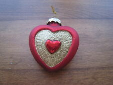 Old World Glass Heart Ornament