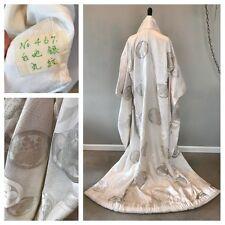 VTG Signed Japanese Wedding Kimono Uchikake Dress Glam Aztec Geisha Robe Costume