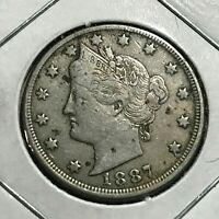 1887 LIBERTY NICKEL IN HIGHER GRADE
