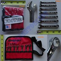 New Snap On 6 Pts Metric Combination Midget Wrench 7 Pcs Set OXIM707SBK 4 to 9mm