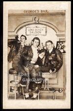 HOT GAY BAR BOYZ BIKER LEATHER JACKET & LEVIS ROCKABILLY MEN ~ 1948 ARCADE PHOTO