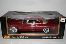 BoxedMaisto Special Edition Diecast Metal 1956 Chrysler 300B 1:18 Scale, Boxed