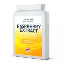 Raspberry Extract 600mg - 60 Capsules. Made in Great Britain.