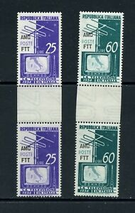 A288  Italy/Trieste  1954  television  GUTTER PAIR      MNH