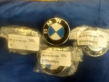 4 NEW Genuine Wheel Center Cap & Emblems BMW OEM # 36136783536 GERMANY Push On