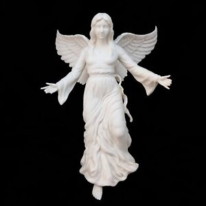 AS-IS Lenox China Renaissance ANGEL Bisque Xmas Tree Top Topper Star Ornament