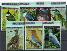 Equatorial Guinea Colorful Birds MNH imperforated stamp set of 7 NEW