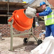 Portable 2-1/5cuft Electric Concrete Cement Mixer Barrow Machine Mixing Mortar