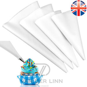 """SET OF 4  REUSABLE SILICONE PIPING BAGS ASSORTED SIZES 10 12 14 16"""""""