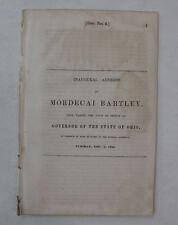Government Document Inaugural Address Mordecai Bartley Ohio History College 1844