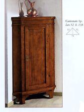 ANGOLIERA CON 2 ANTE VETRO//LEGNO IN MASSELLO COLORE NOCE CLASSICOx INGRESSO 926