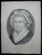 1872 Original Currier & Ives Print Portrait of Martha Washington Full Margins