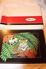 New listing Set of 4 Pimpernel Jaguar Placemats Jungle Orchids