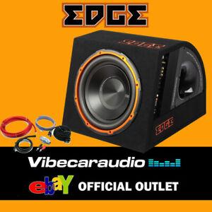 "EDGE EDB12A-E0 - 12"" Active Car Subwoofer 900W Max Power Built In W/ Wiring Kit"