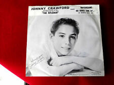JOHNNY CRAWFORD~DAYDREAMS~RARE PICTURE SLEEVE~DEL FI 4162~SO GOES THE ~TEEN 45