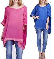 Women's Party Scoop Neck Hip Length Plus Size Tops & Shirts