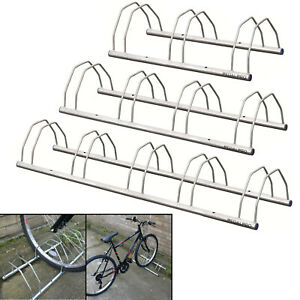 PedalPro Floor/Wall Mount Galvanized Bicycle Storage Rack/Stand 3/4/5 Bike/Cycle