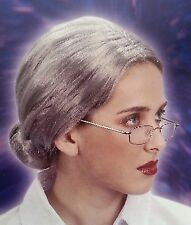 GRANDMA WIG Grey Hair Old Lady Wig Fancy Dress Costume Party Grand Mother New