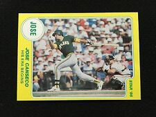 """JOSE CANSECO ROOKIE ODD BALL STAR 1986 """" HIS ERA BEGINS"""" RC A'S BASEBALL CARD"""