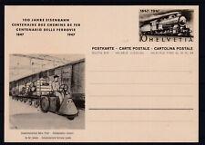 Schweiz Eisenbahn Bildpostkarten Ganzsache