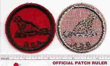 Old BSA FELT Patrol Patch -   SEAL  - 1940s Era - B & W Threads Back