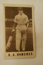 1940's Vintage G.J.Coles Cricket Card -  R.A. Hamence - South Australia.