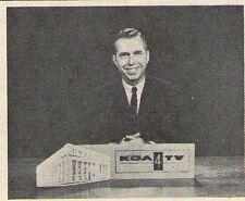 1961 KOA tv ad ~ CLYDE DAVIS w News on KOA tv in DENVER,COLORADO