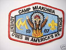 CAMP MIAKONDA 1987 SUMMER CAMP PATCH