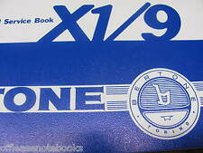Owner's Service Booklet, a Companion to Owners Manual for BERTONE Fiat X1/9 NEW