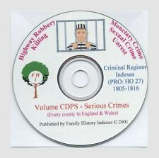 SERIOUS CRIMES INDEX, Any in your family? Genealogy.