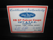 BIANTE 1/18 COA CERTIFICATE OF AUTHENTICITY MOFFAT FORD XB GT 1977 ATCC  SIGNED