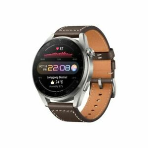 HUAWEI WATCH 3 Pro 48MM Sllver with Brown Leather Strap Smart Watch By FedEx