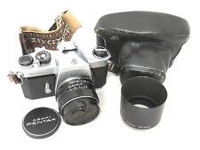 Takumar 50 mm 1:1.4 Lens with Asahi Pentax Spotmatic 35mm SLR Film Camera Case