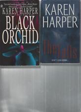 KAREN HARPER - BLACK ORCHID  -  A LOT OF 2 BOOKS