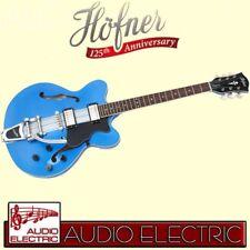 Höfner Verythin LTD Hollowbody E-Gitarre mit Bigsby Tremolo met. blue