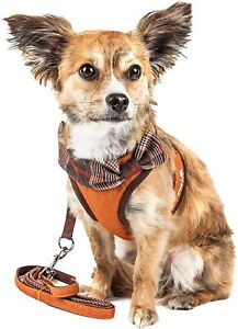 Pet Life 'Furracious' 2-in-1 Fashion Dog Harness-Leash w/ Removable Fur Collar