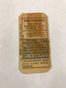 San Diego Padres PCL Westgate Park Ticket Original Circa 1960