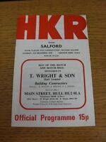 03/12/1978 Rugby League Programme: Hull Kingston Rovers v Salford [John Player C
