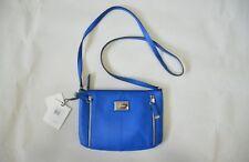 Calvin Klein Leather Handbag Crossbody H4AEA2FW Cornflower Blue Purse NWT New