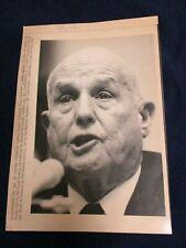 Wire Press Photo 1990 William Seidman FDIC Senate Banking Committee Washington 3