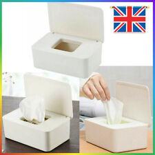 Office Wet Wipes Dispenser Holder Tissue Storage Box Case with Lid White Q5U8H